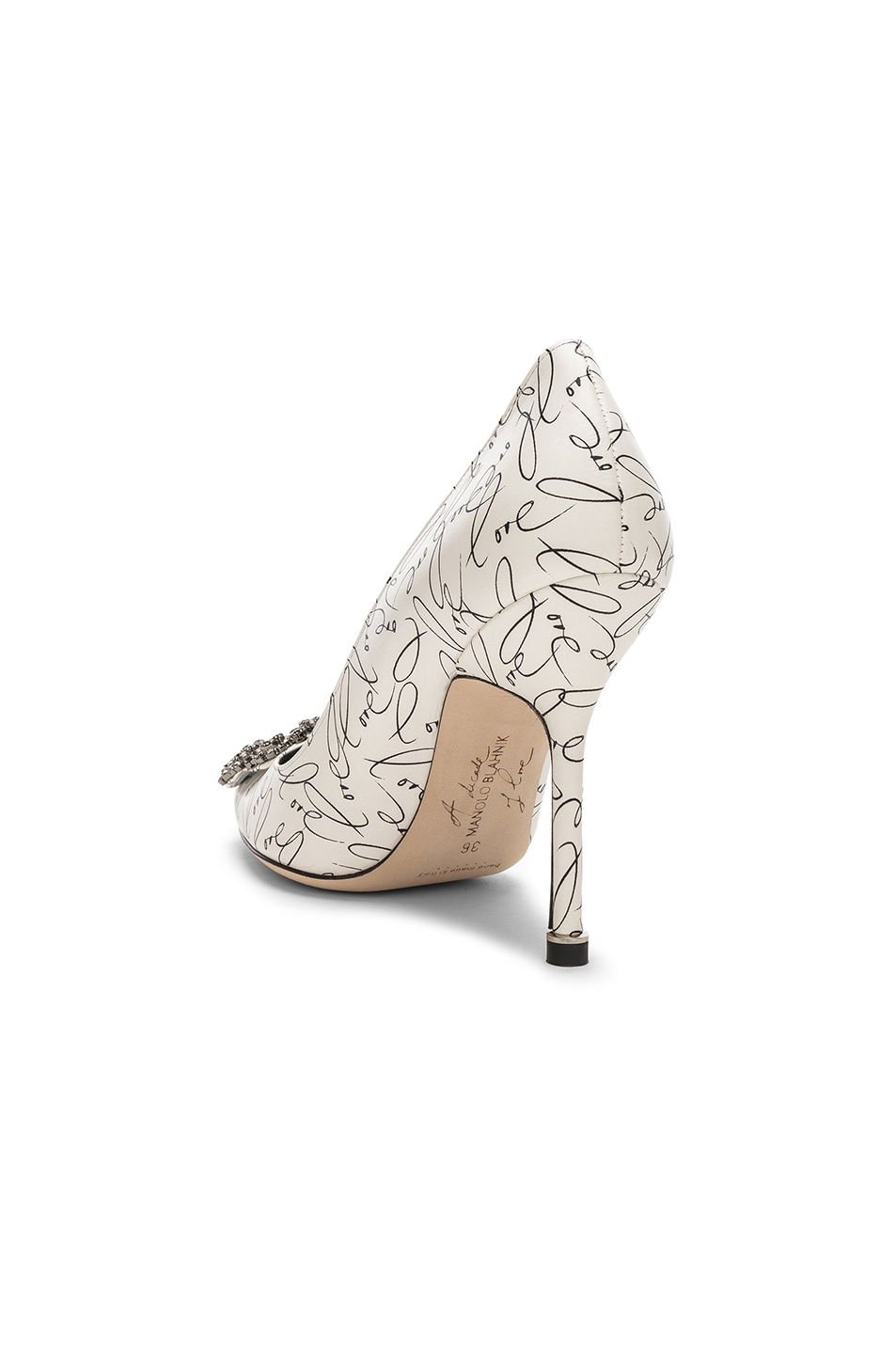 Image 3 of Manolo Blahnik 105mm A Decade of Love Hangisi Heel in White