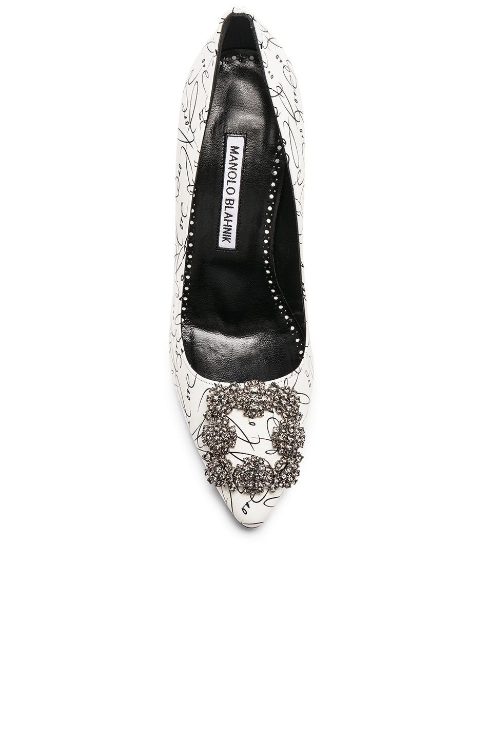 Image 4 of Manolo Blahnik 105mm A Decade of Love Hangisi Heel in White