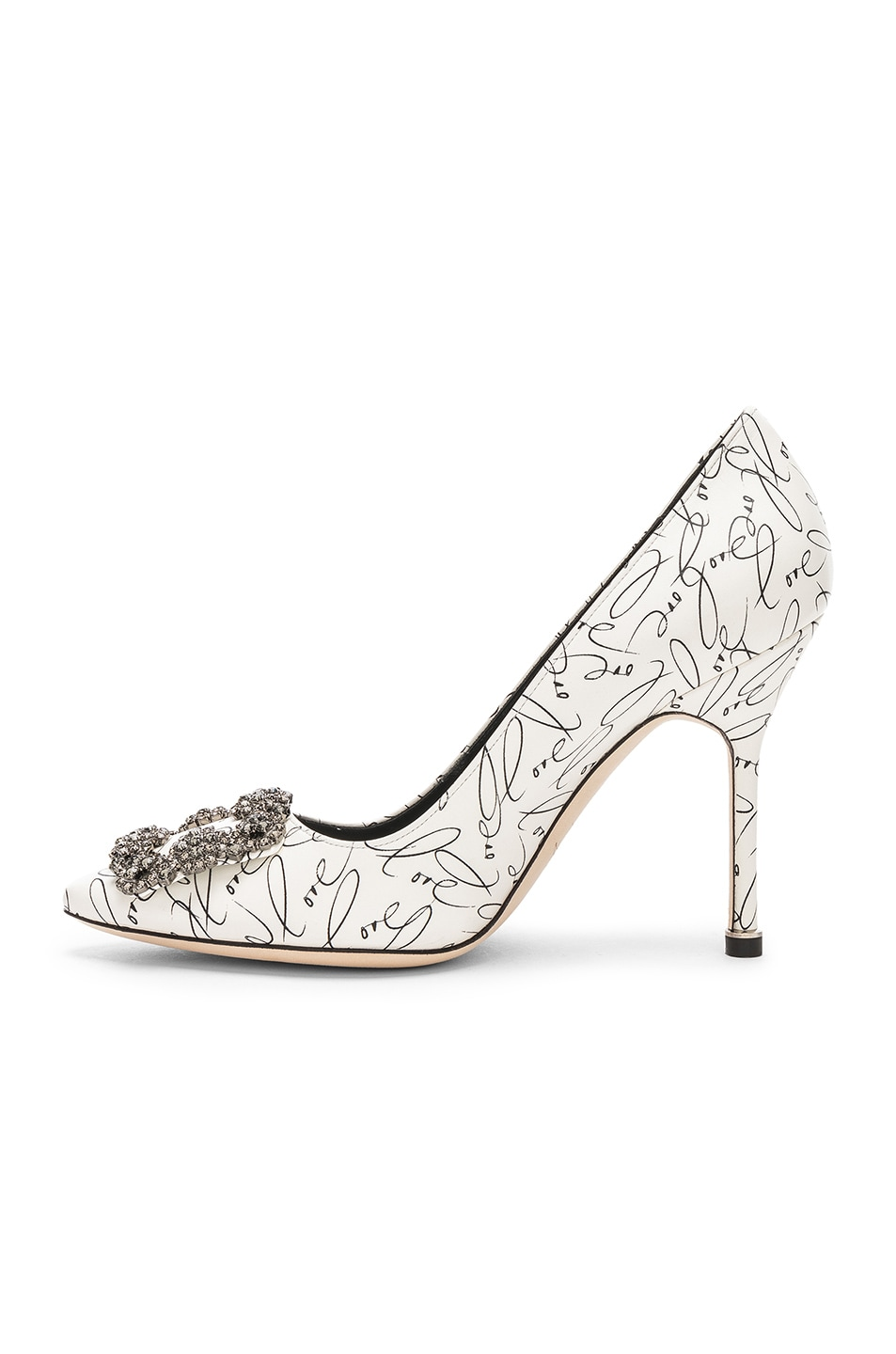 Image 5 of Manolo Blahnik 105mm A Decade of Love Hangisi Heel in White