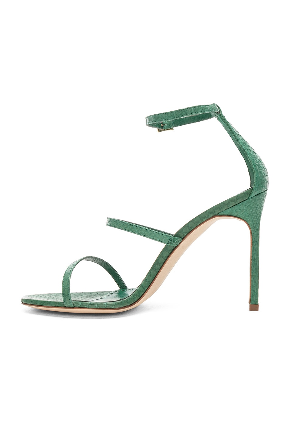 Image 5 of Manolo Blahnik Piona Matte Snake 105 Heel in Green
