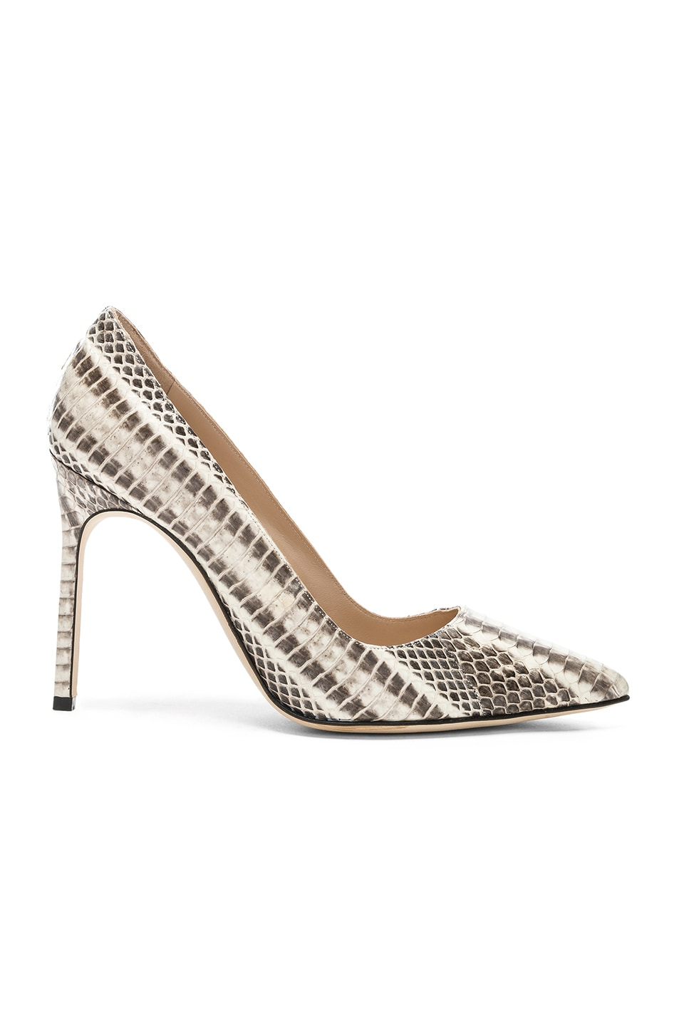 Image 1 of Manolo Blahnik BB Watersnake 105 Heel in Black & White