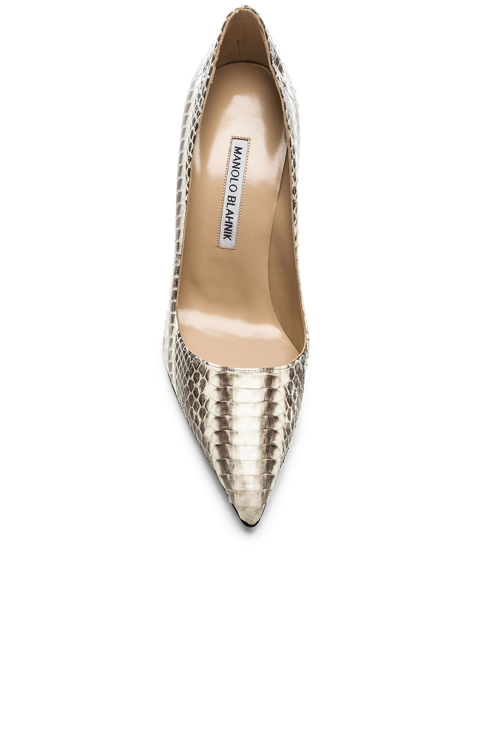Image 4 of Manolo Blahnik BB Watersnake 105 Heel in Black & White