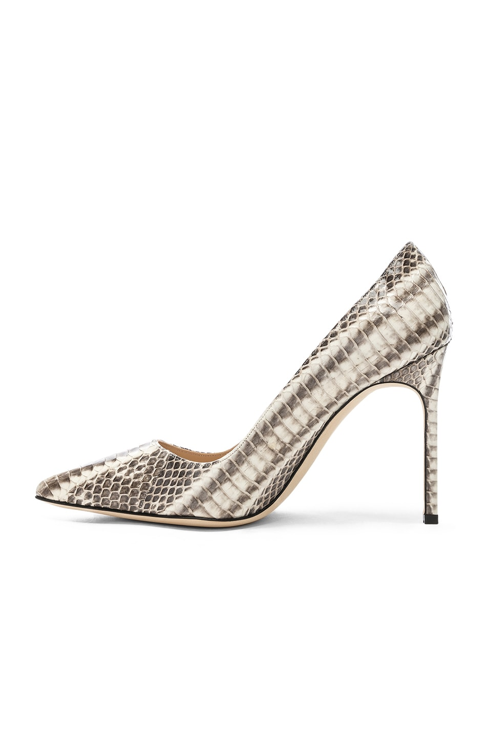 Image 5 of Manolo Blahnik BB Watersnake 105 Heel in Black & White