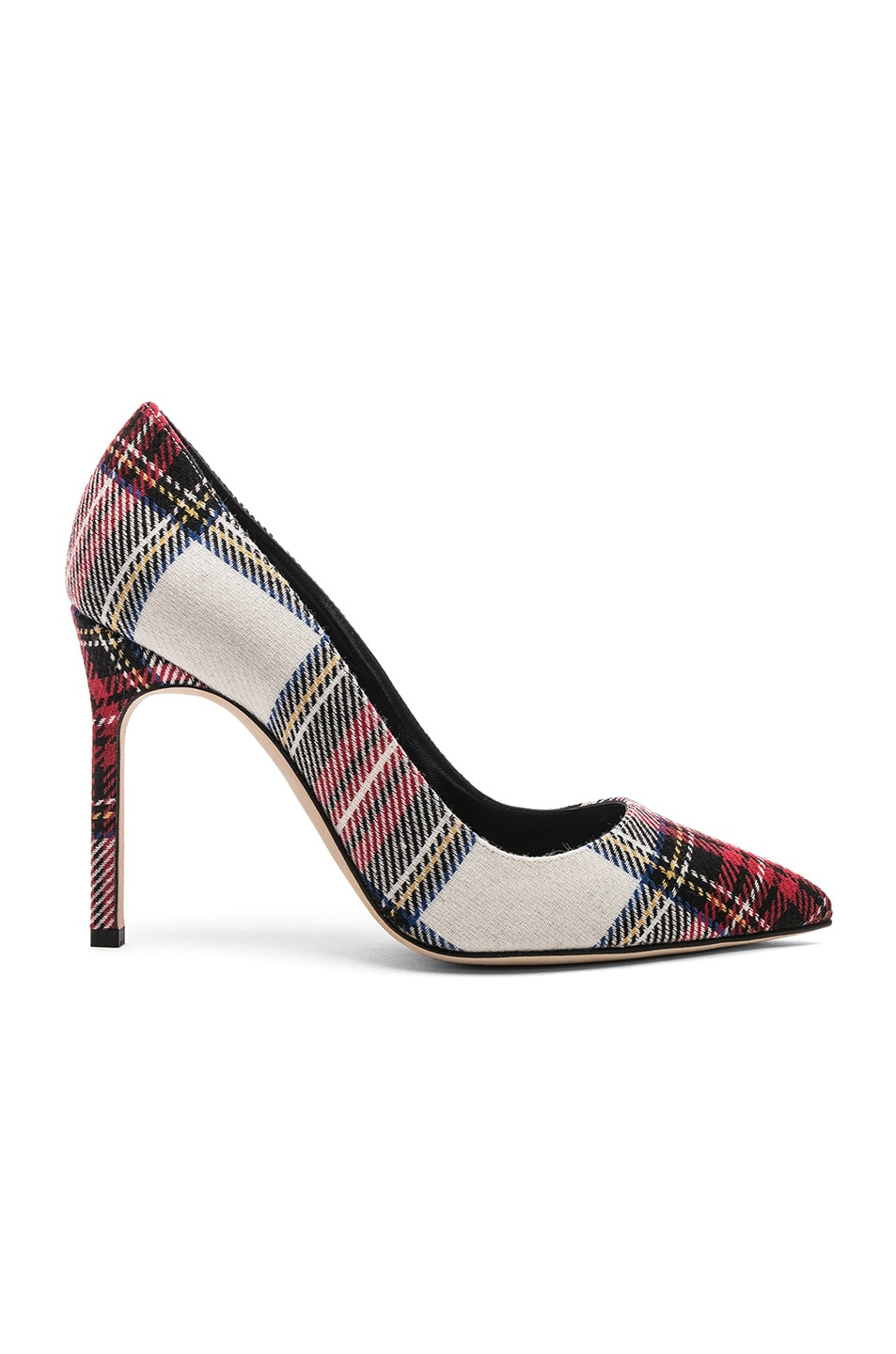 Image 1 of Manolo Blahnik BB 105 Pux Heel in White, Red & Black