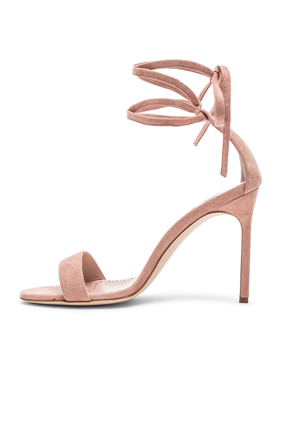 Image 5 of Manolo Blahnik Chaosbow Suede 105 Heel in Canyon Blush