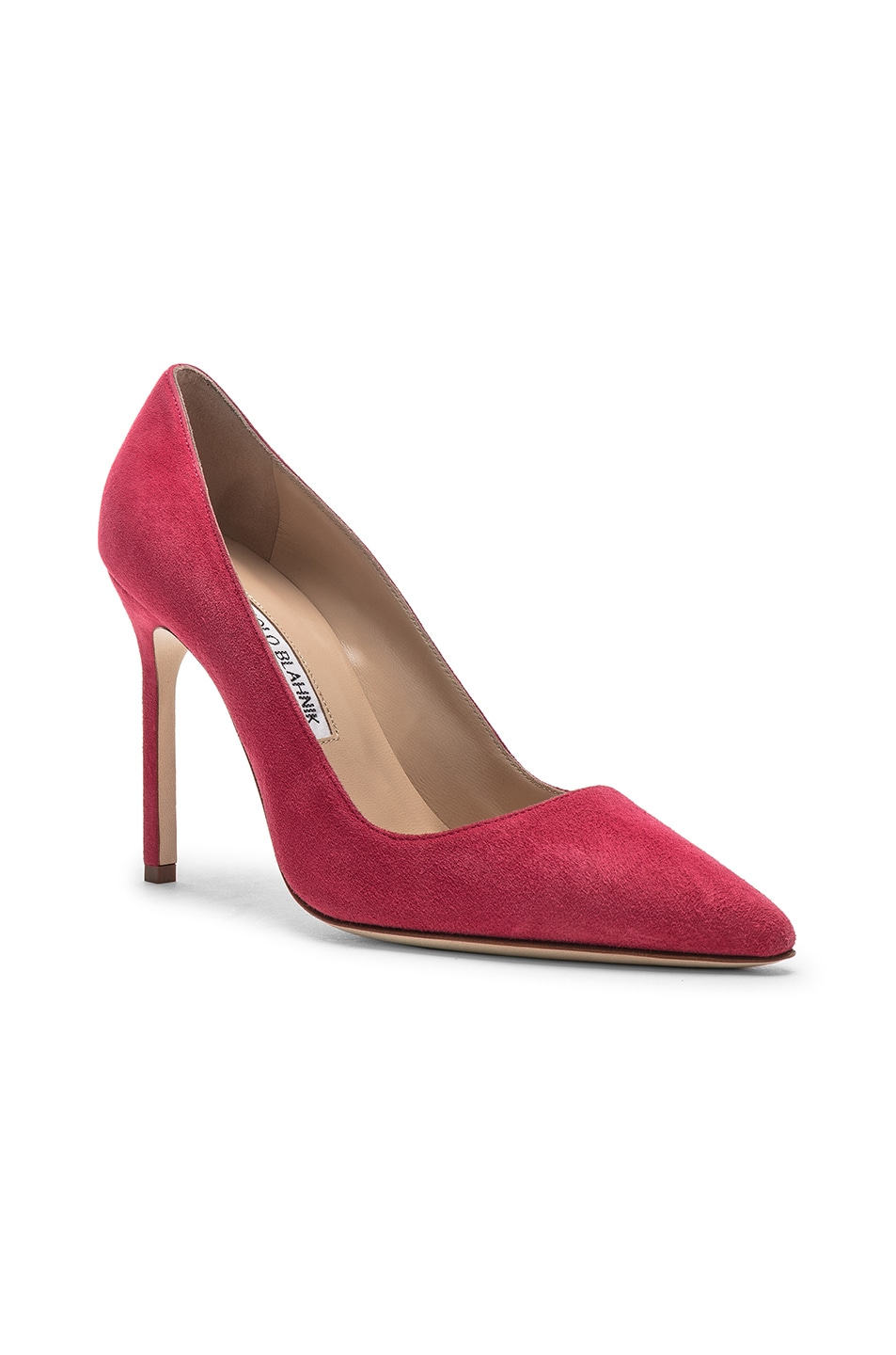Image 2 of Manolo Blahnik BB Suede Pumps in Pink