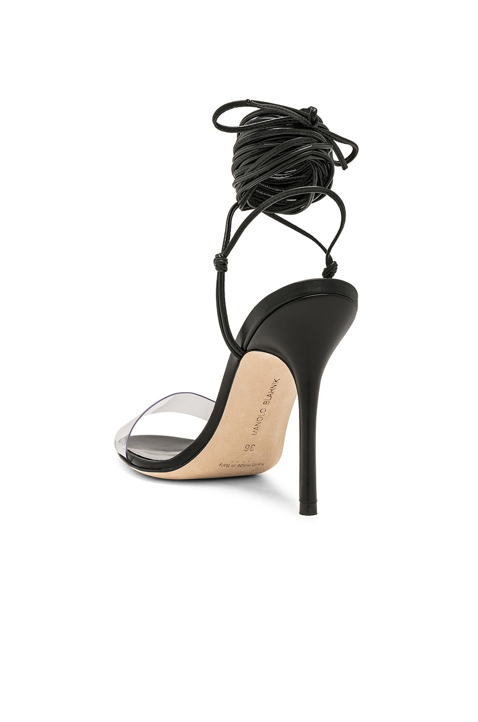 Image 3 of Manolo Blahnik Priscestro 105 Heel in Black & Clear