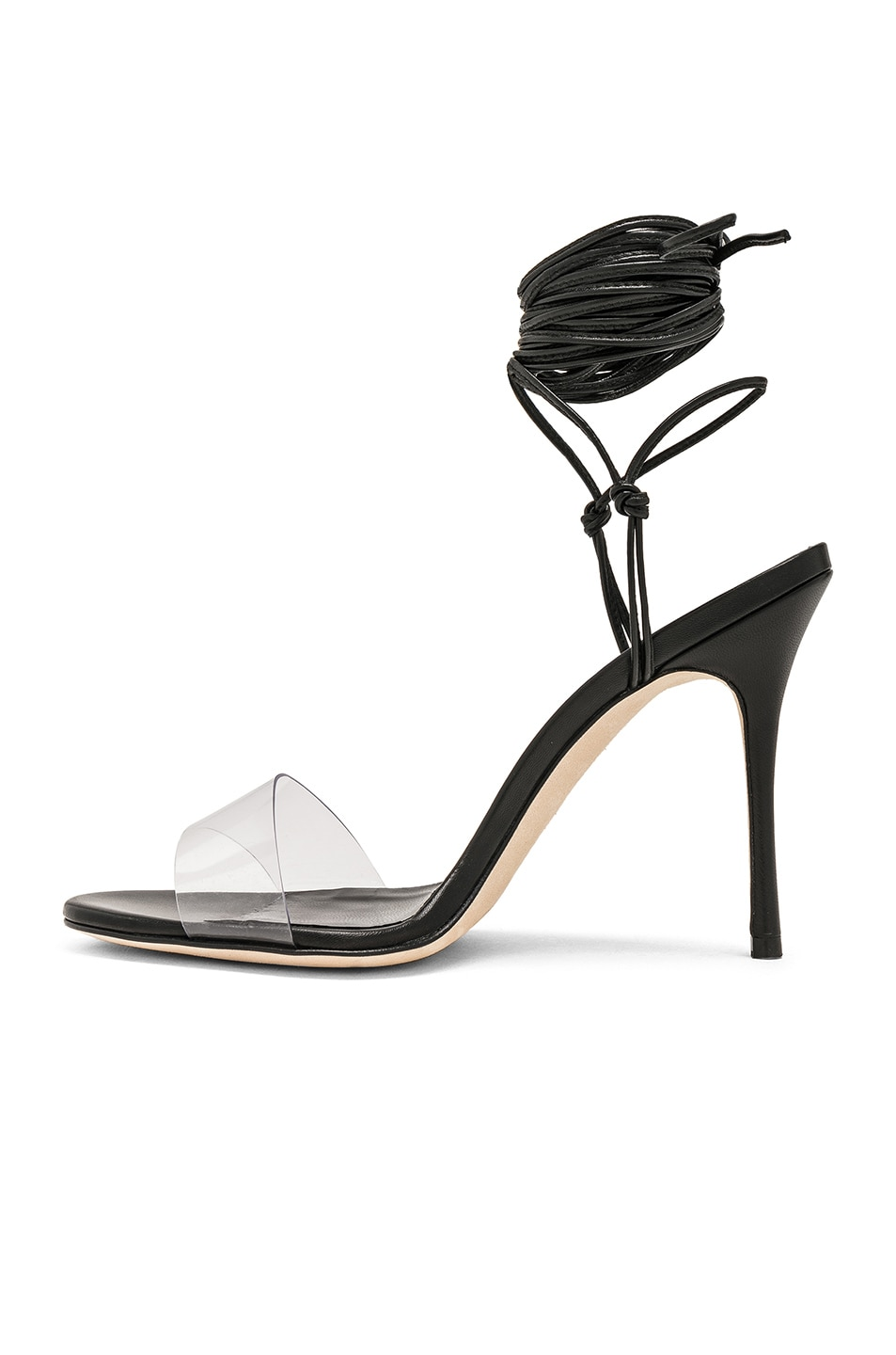 Image 5 of Manolo Blahnik Priscestro 105 Heel in Black & Clear