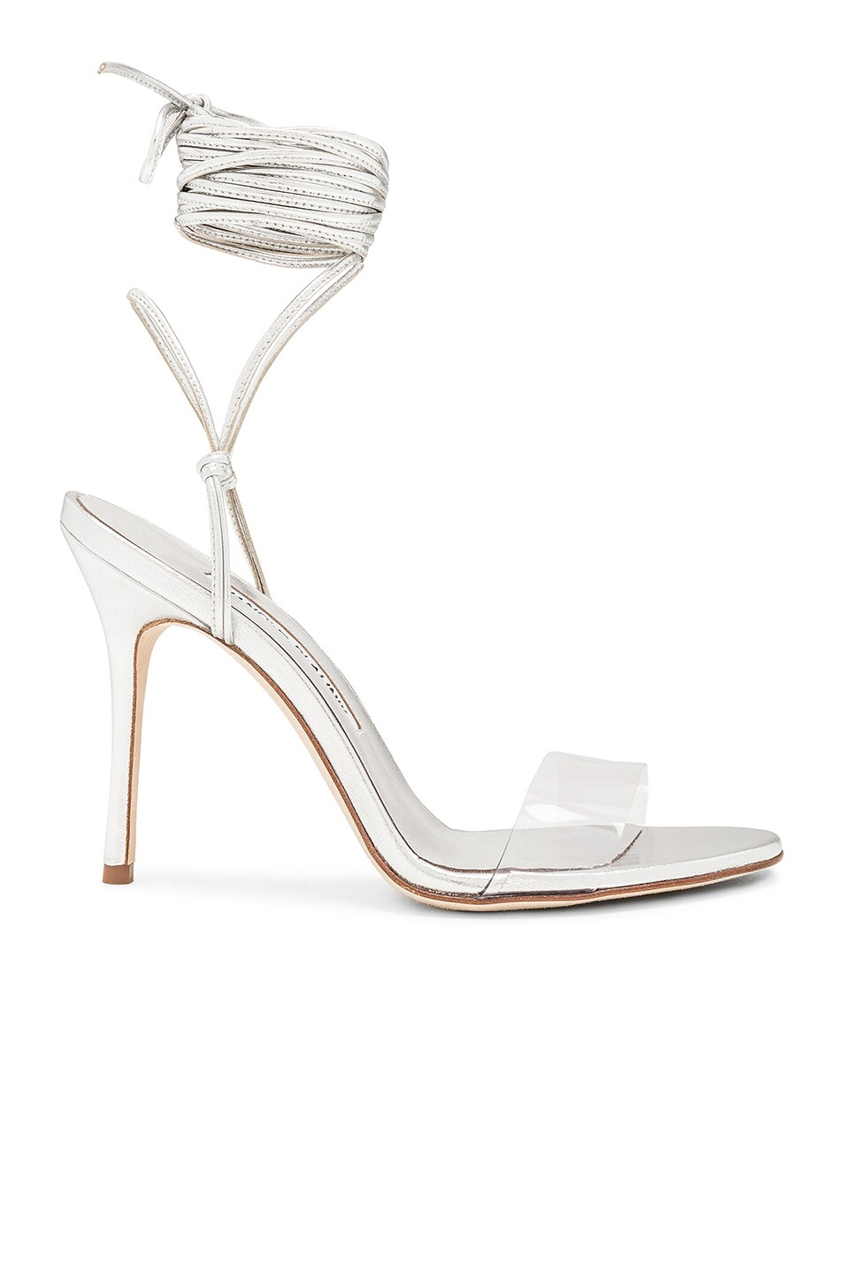Image 1 of Manolo Blahnik Priscestro 105 Heel in Silver & Clear