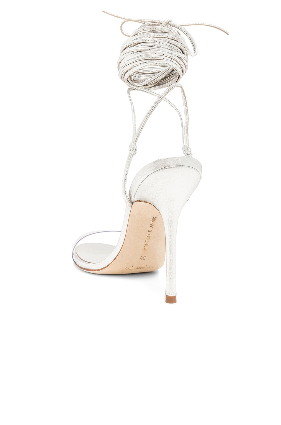 Image 3 of Manolo Blahnik Priscestro 105 Heel in Silver & Clear