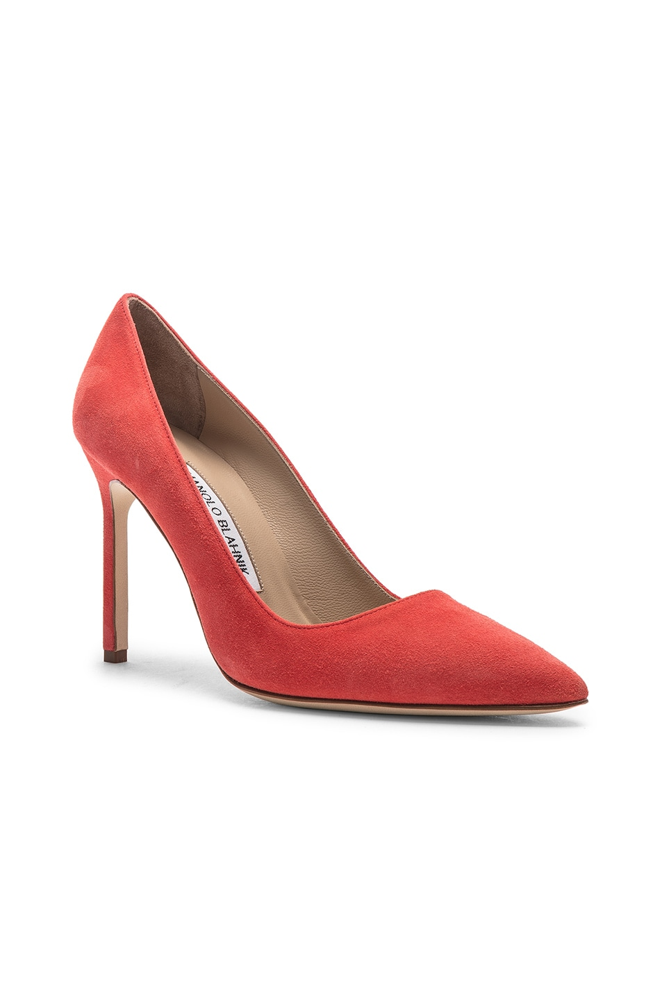 Image 2 of Manolo Blahnik BB Suede Pumps in Orange