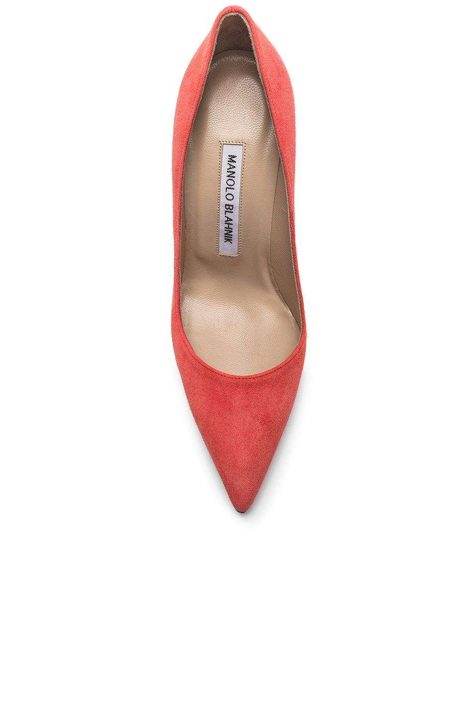 Image 4 of Manolo Blahnik BB Suede Pumps in Orange