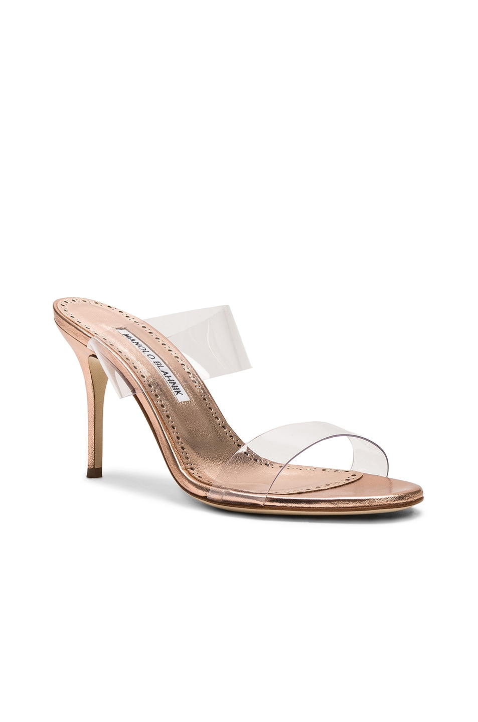 Image 2 of Manolo Blahnik Scolto 90 Mule in Cipria Rose Gold