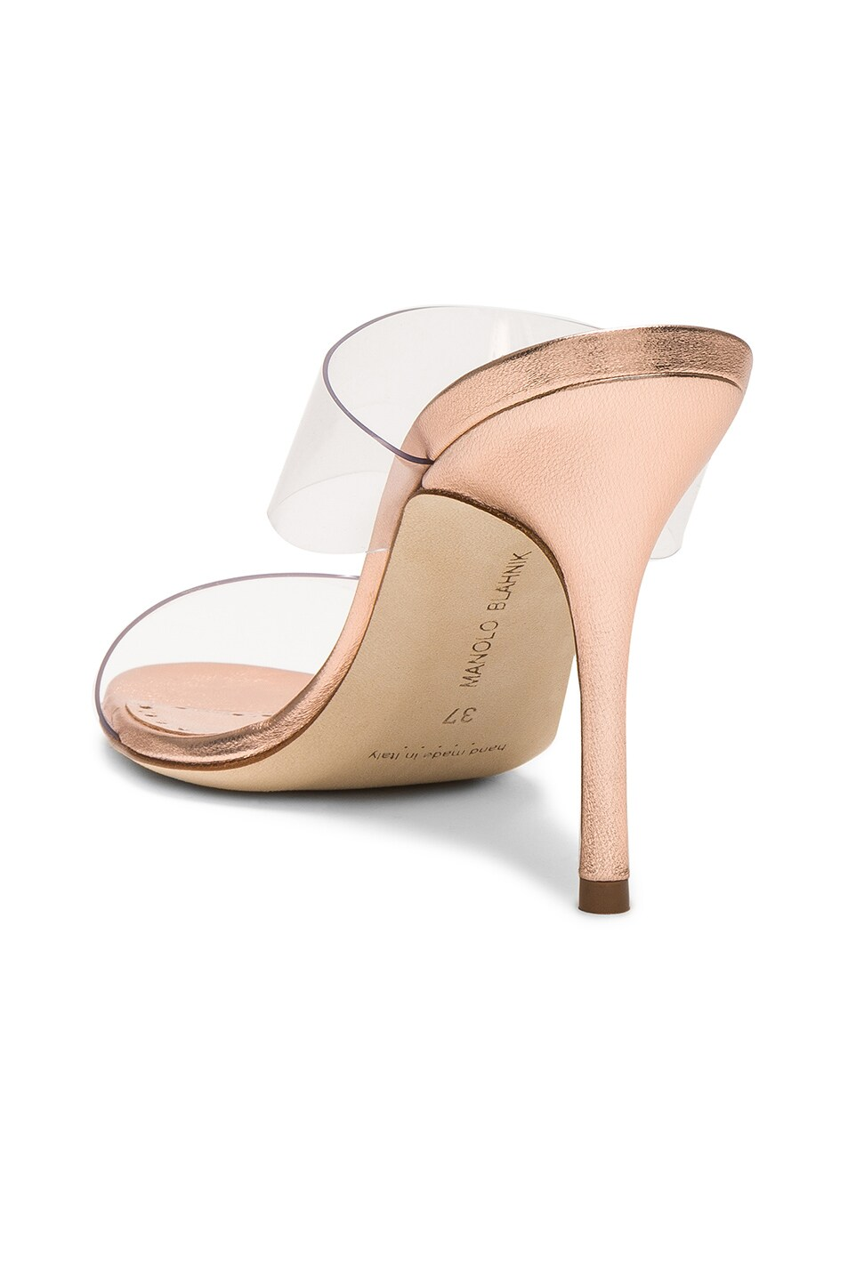 Image 3 of Manolo Blahnik Scolto 90 Mule in Cipria Rose Gold