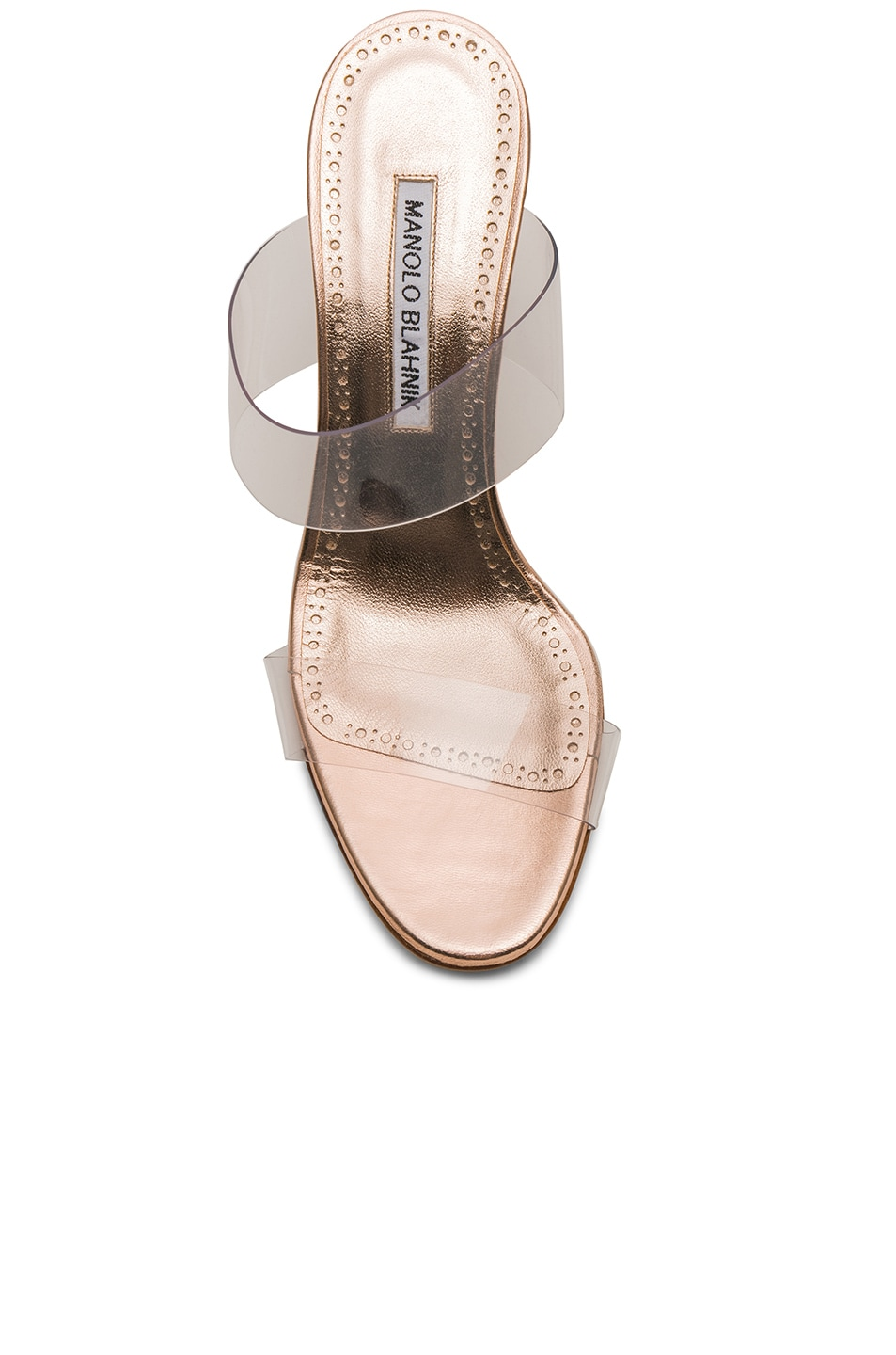 Image 4 of Manolo Blahnik Scolto 90 Mule in Cipria Rose Gold