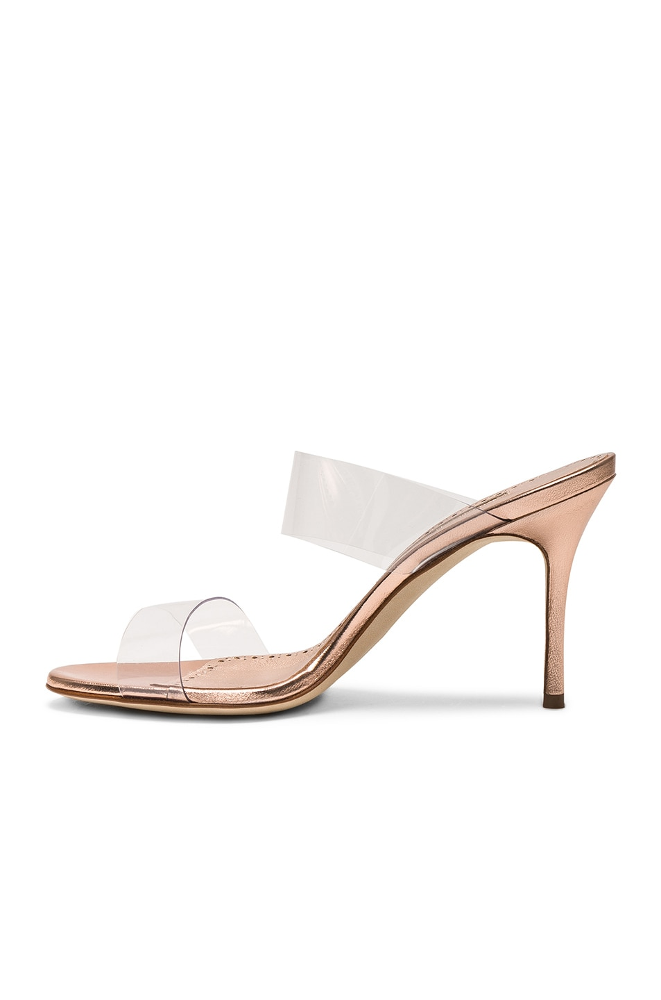 Image 5 of Manolo Blahnik Scolto 90 Mule in Cipria Rose Gold