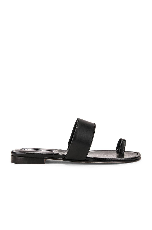 Image 1 of Manolo Blahnik Messen Sandal in Black Calf