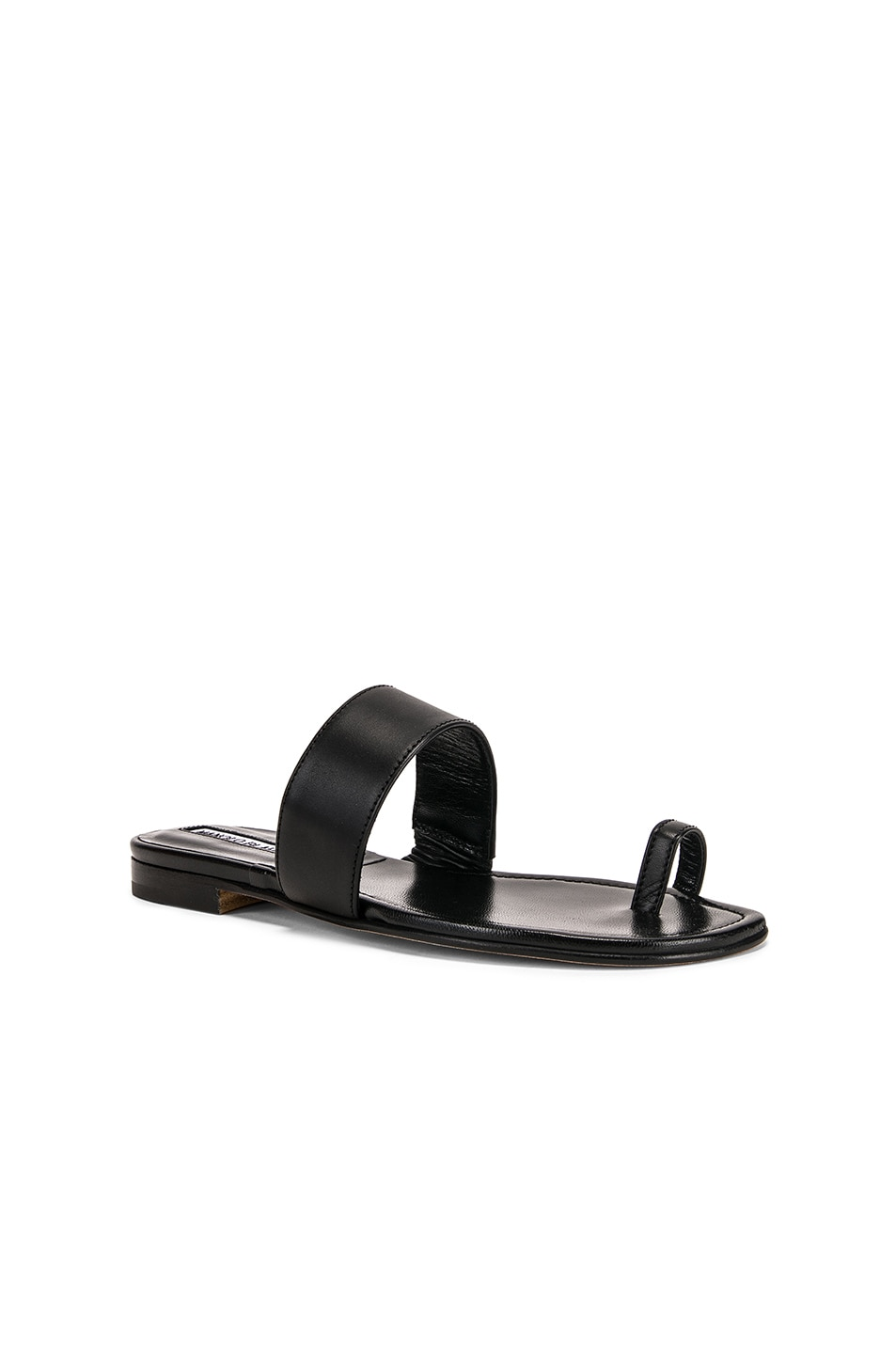 Image 2 of Manolo Blahnik Messen Sandal in Black Calf