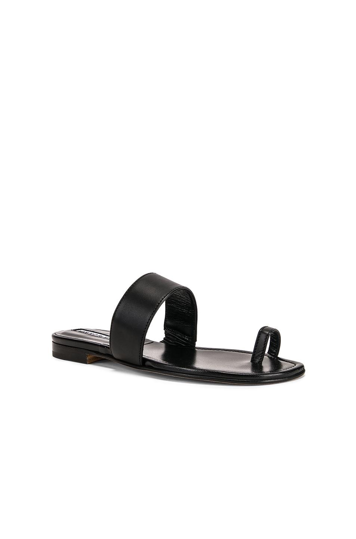 Image 2 of Manolo Blahnik Messen Sandal in Black Calf
