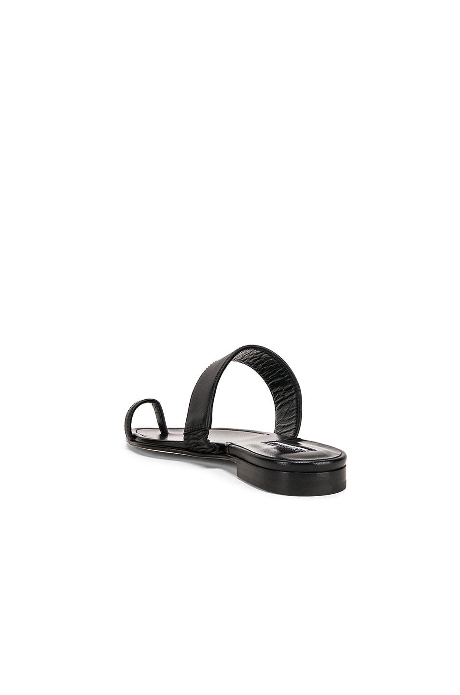 Image 3 of Manolo Blahnik Messen Sandal in Black Calf
