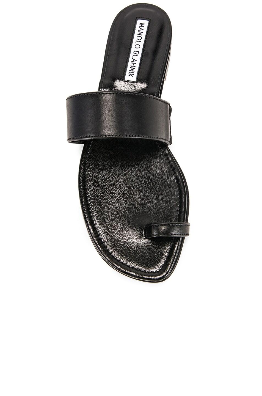 Image 4 of Manolo Blahnik Messen Sandal in Black Calf