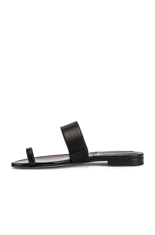 Image 5 of Manolo Blahnik Messen Sandal in Black Calf