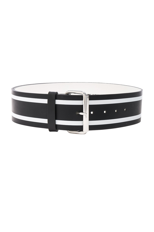 Image 1 of Monse Racing Stripe Print Belt in Black