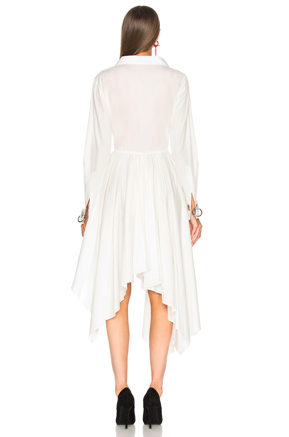 Image 5 of Monse Pleated Shirt Dress in White