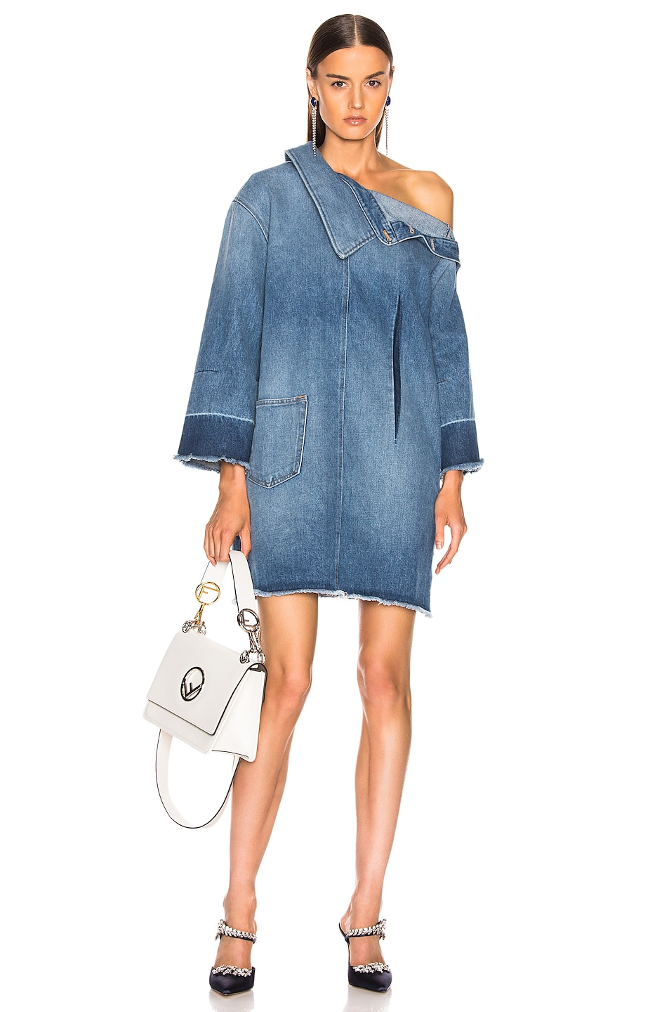 Image 1 of Monse Side Placket Dress in Blue