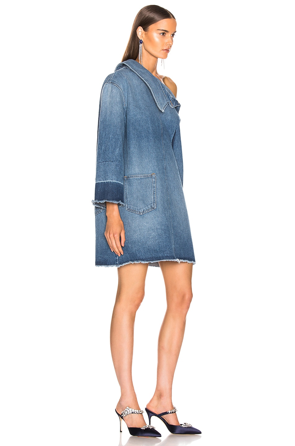 Image 2 of Monse Side Placket Dress in Blue