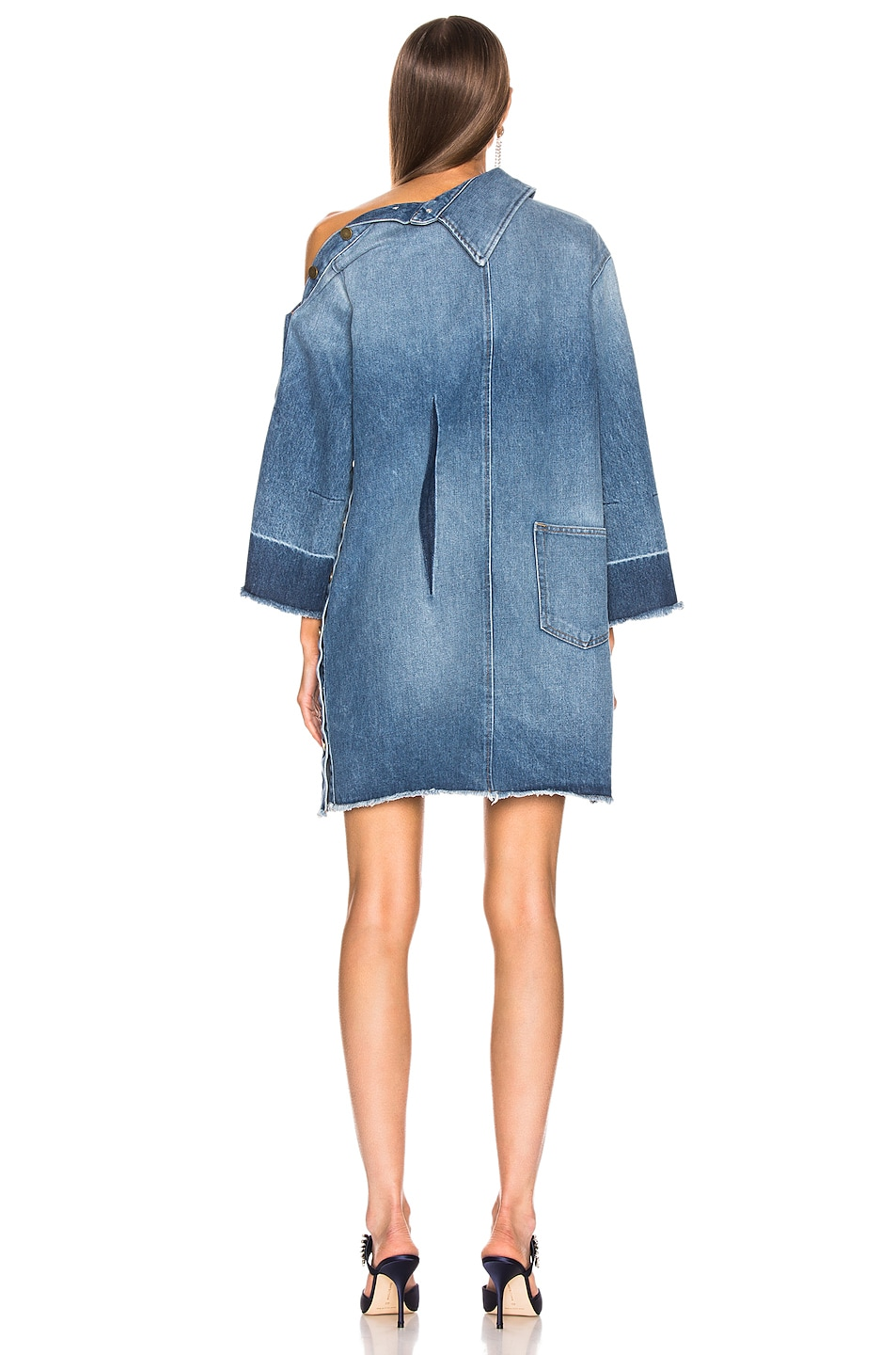 Image 4 of Monse Side Placket Dress in Blue