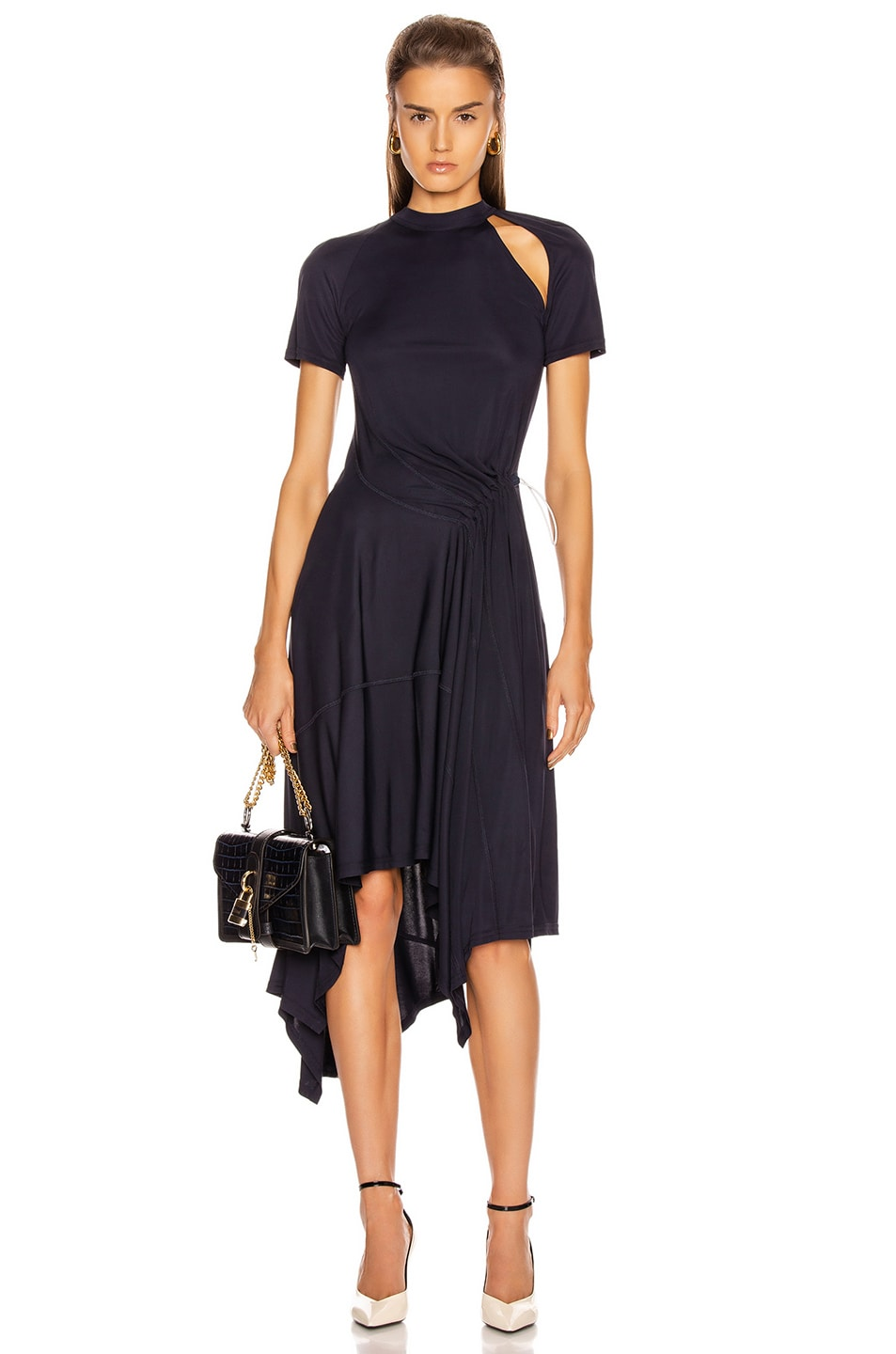Image 1 of Monse Deconstructed Cycling Dress in Midnight