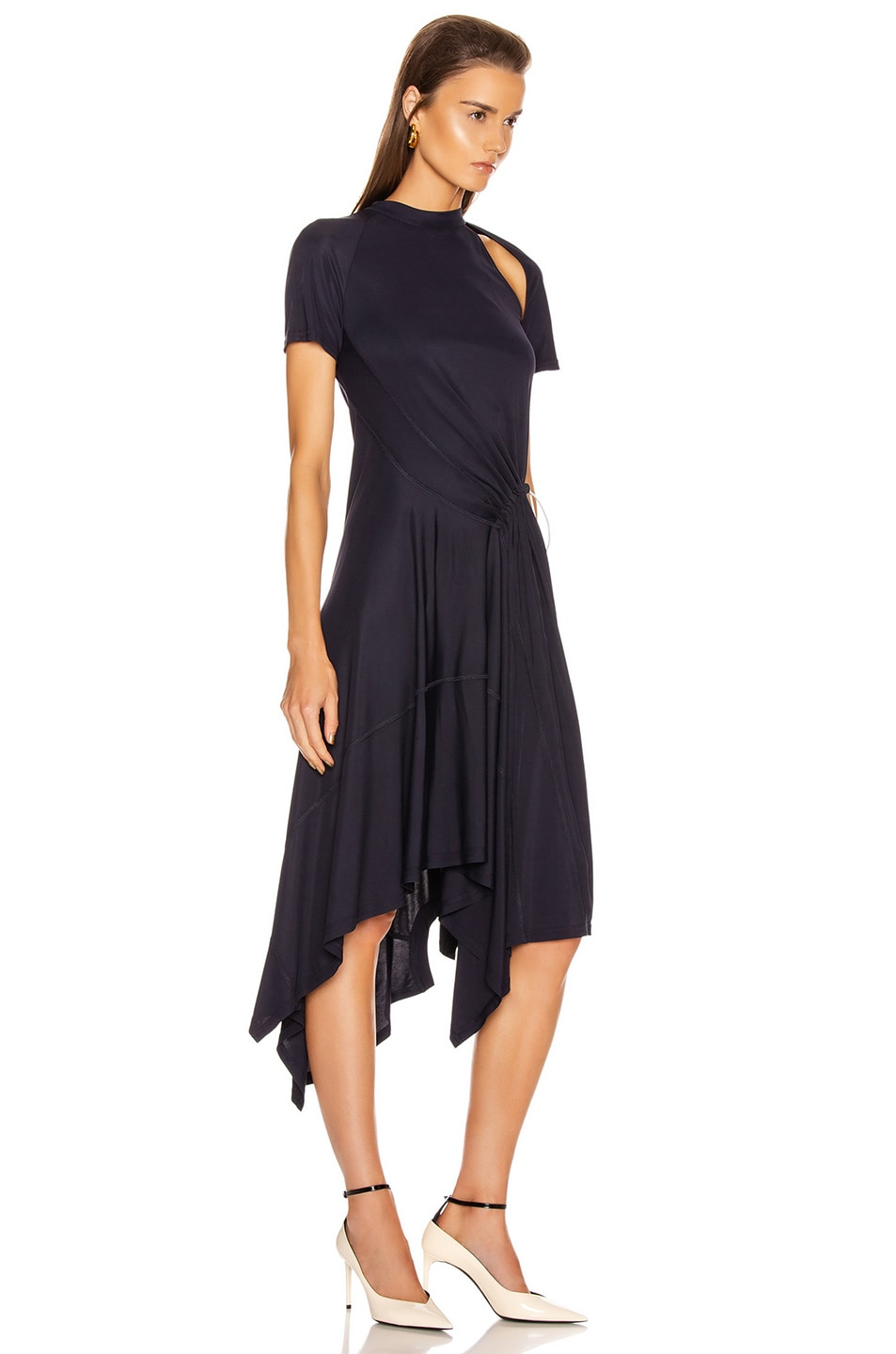 Image 2 of Monse Deconstructed Cycling Dress in Midnight