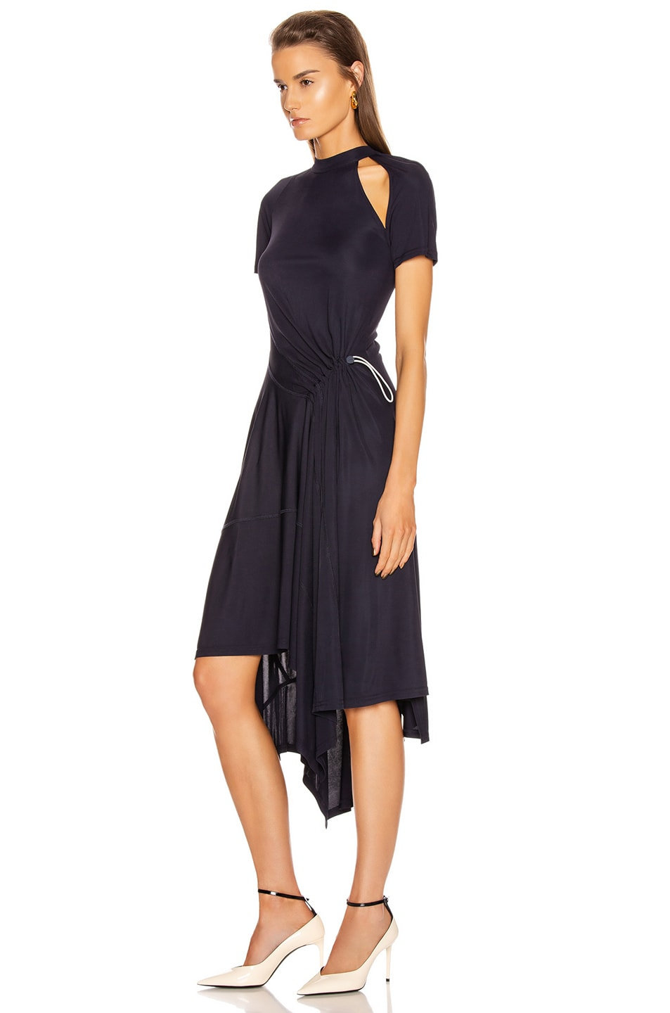 Image 3 of Monse Deconstructed Cycling Dress in Midnight