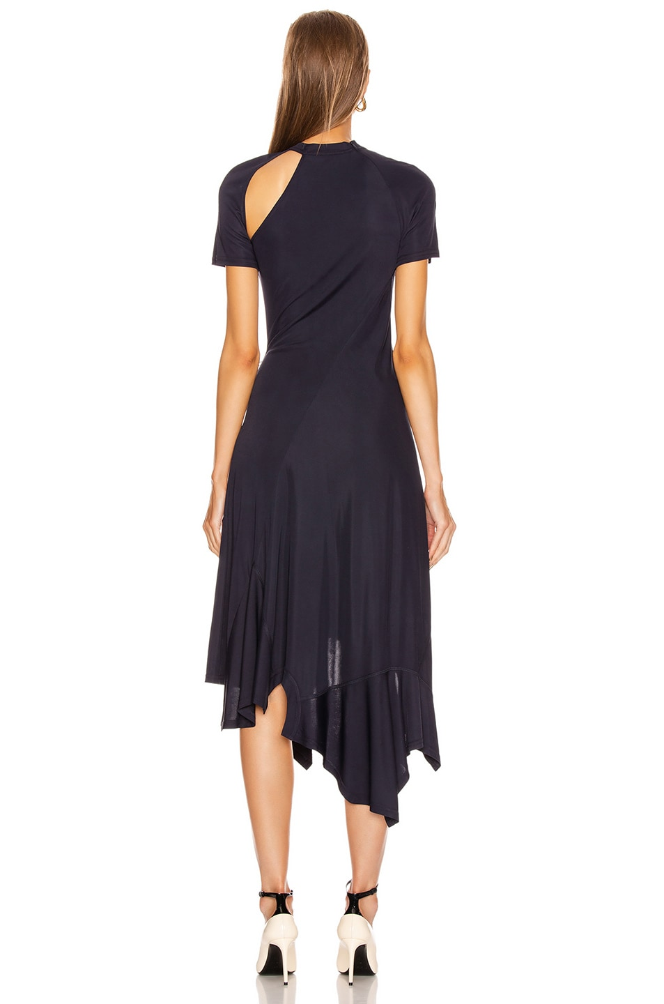 Image 4 of Monse Deconstructed Cycling Dress in Midnight