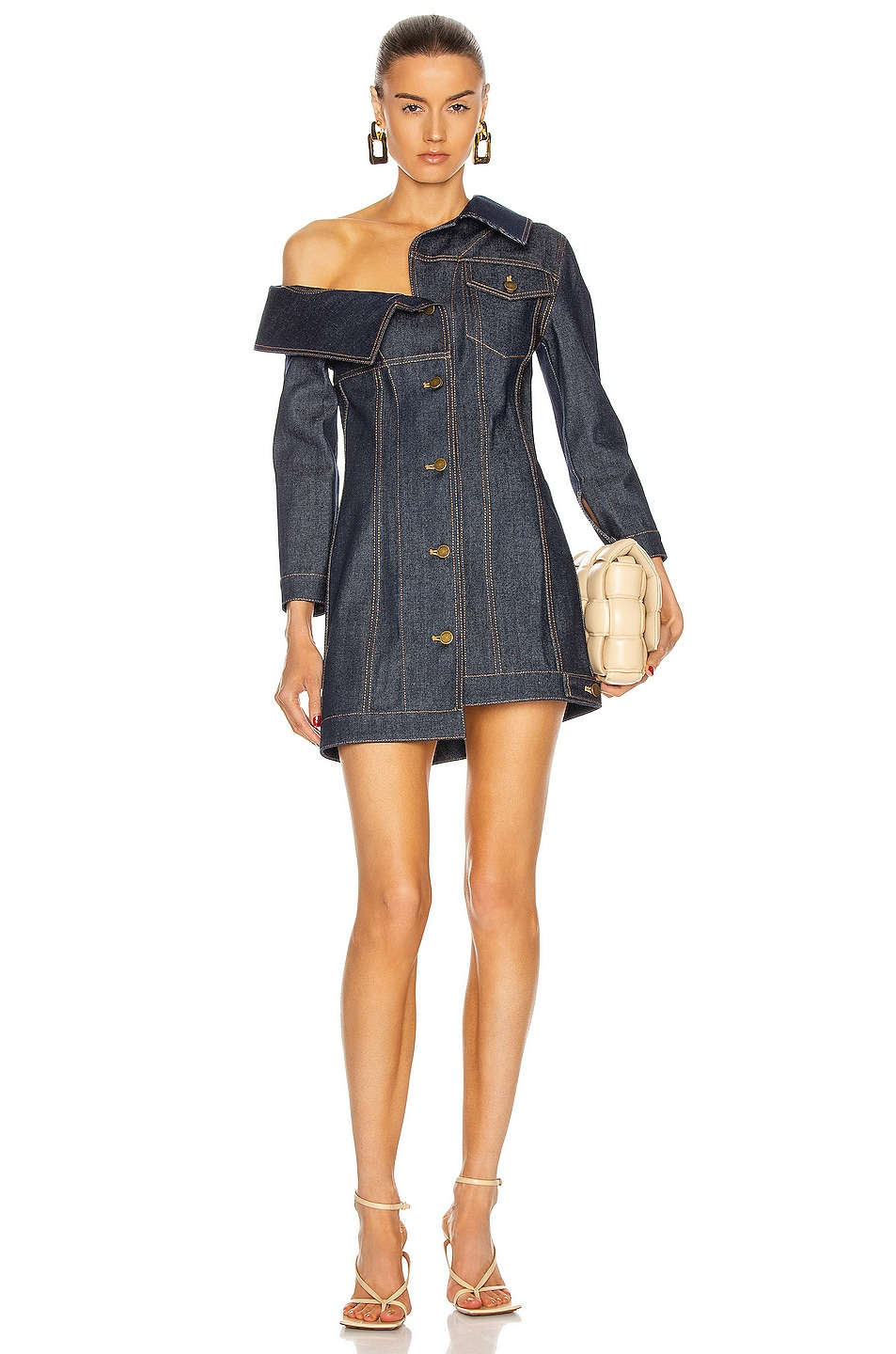 Image 1 of Monse Crooked Jacket Dress in Blue