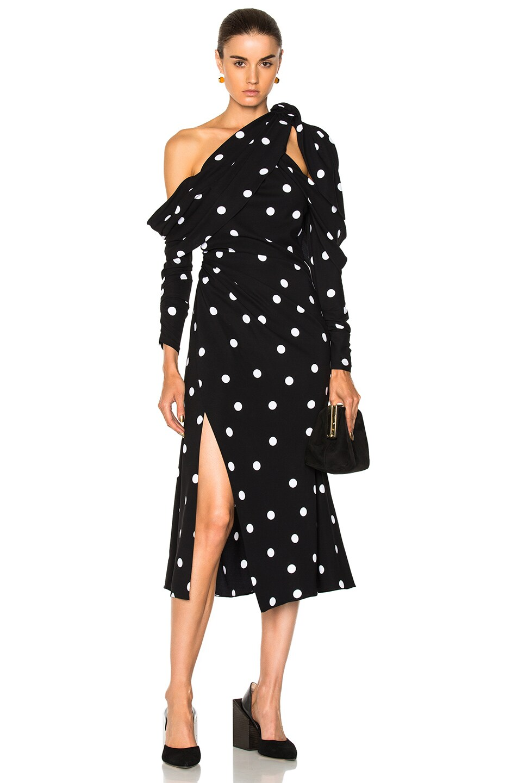 Image 1 of Monse Polka Dot Dress in Black & White