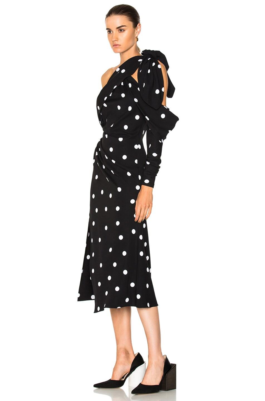 Image 3 of Monse Polka Dot Dress in Black & White