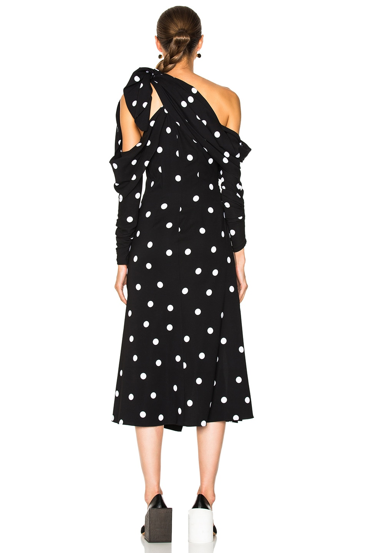 Image 4 of Monse Polka Dot Dress in Black & White