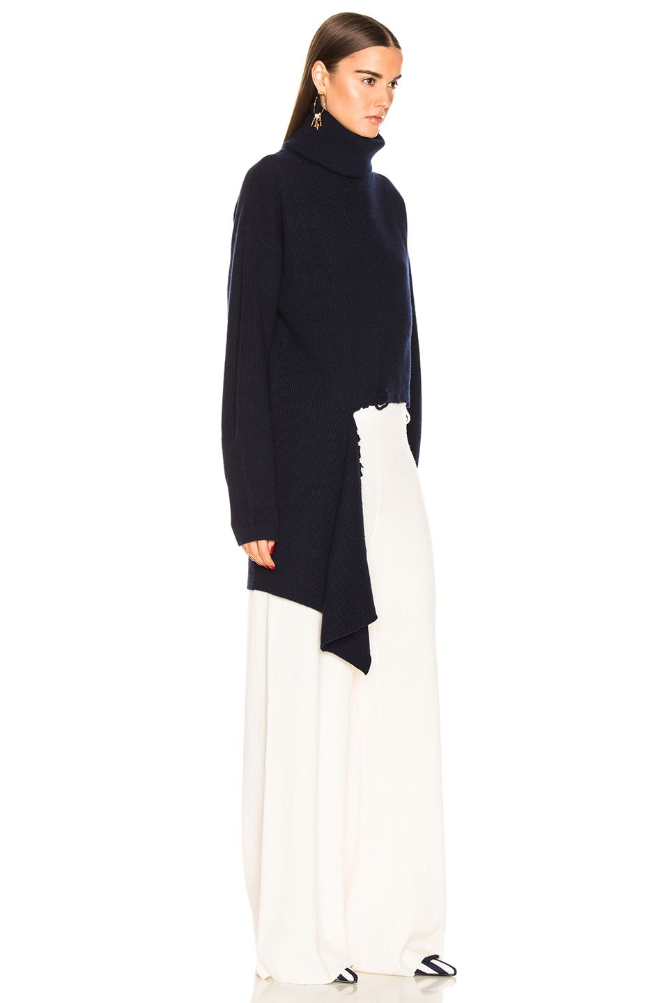 Image 2 of Monse Cascade Rip Turtleneck in Navy