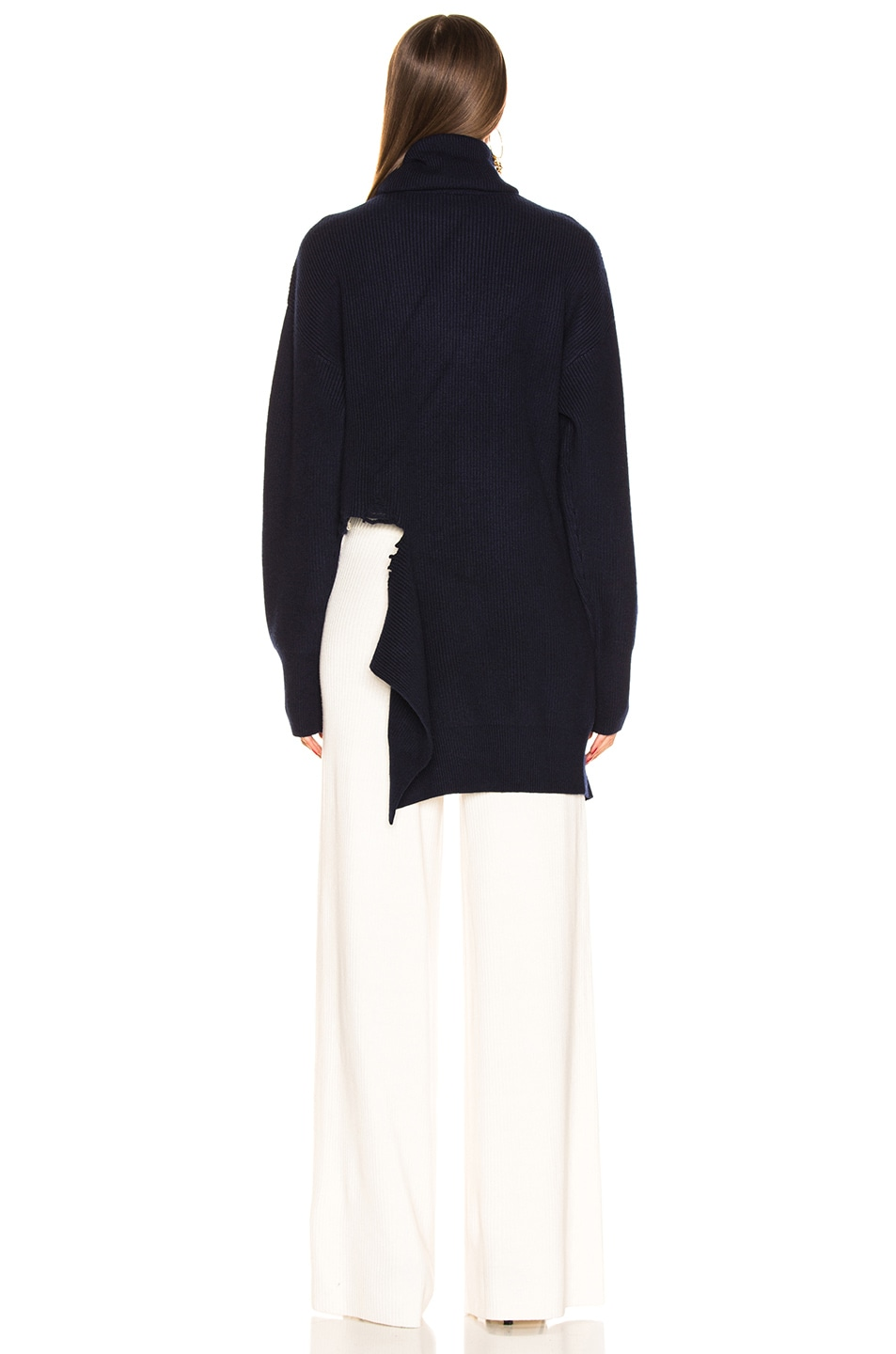 Image 4 of Monse Cascade Rip Turtleneck in Navy