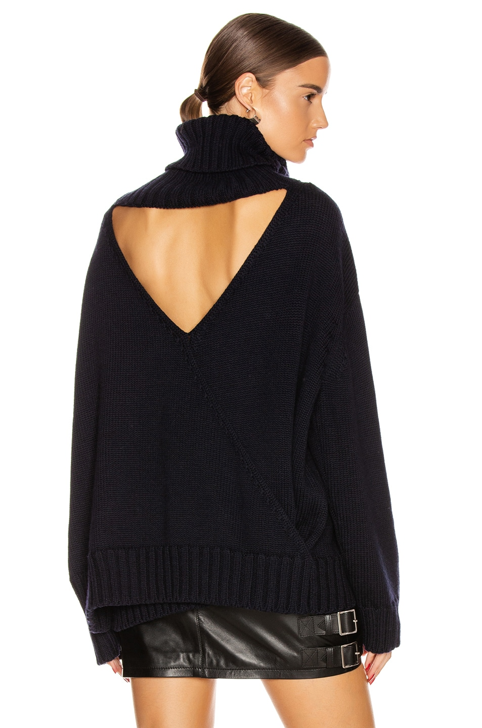 Image 1 of Monse Open Back Sweater in Midnight