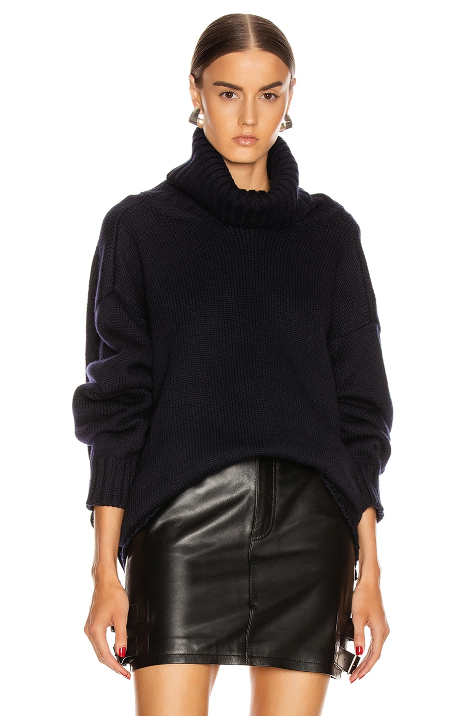 Image 2 of Monse Open Back Sweater in Midnight