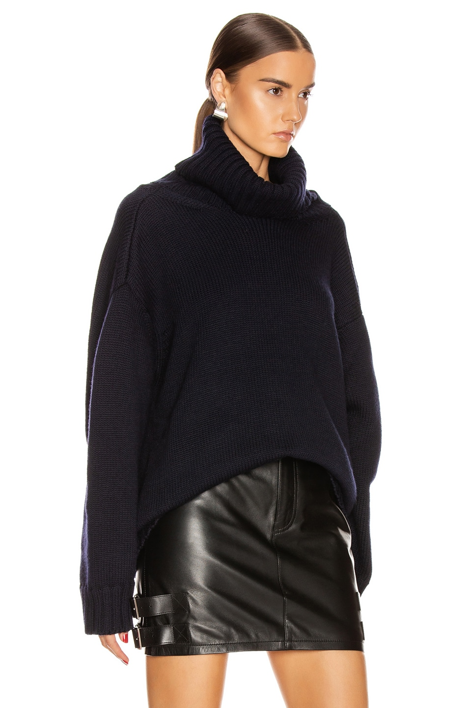 Image 3 of Monse Open Back Sweater in Midnight