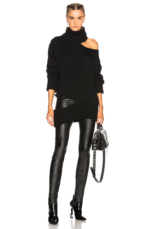 14636e0fb1a792 Image 1 of Monse Cutout Turtleneck Knit Sweater in Black