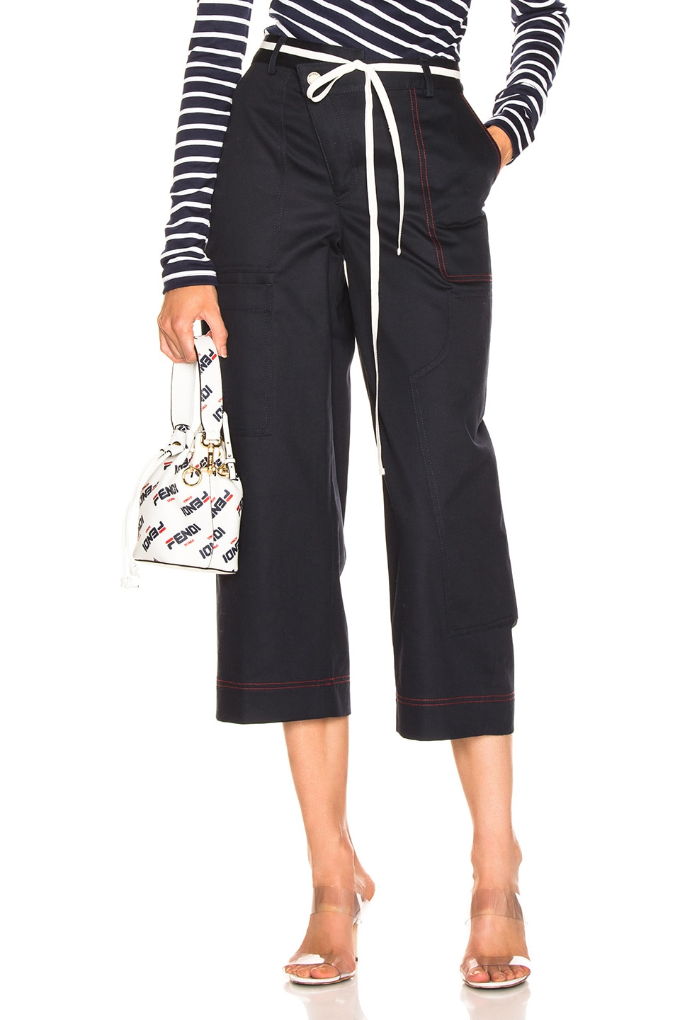Image 1 of Monse Wide Leg Cargo Pant in Navy