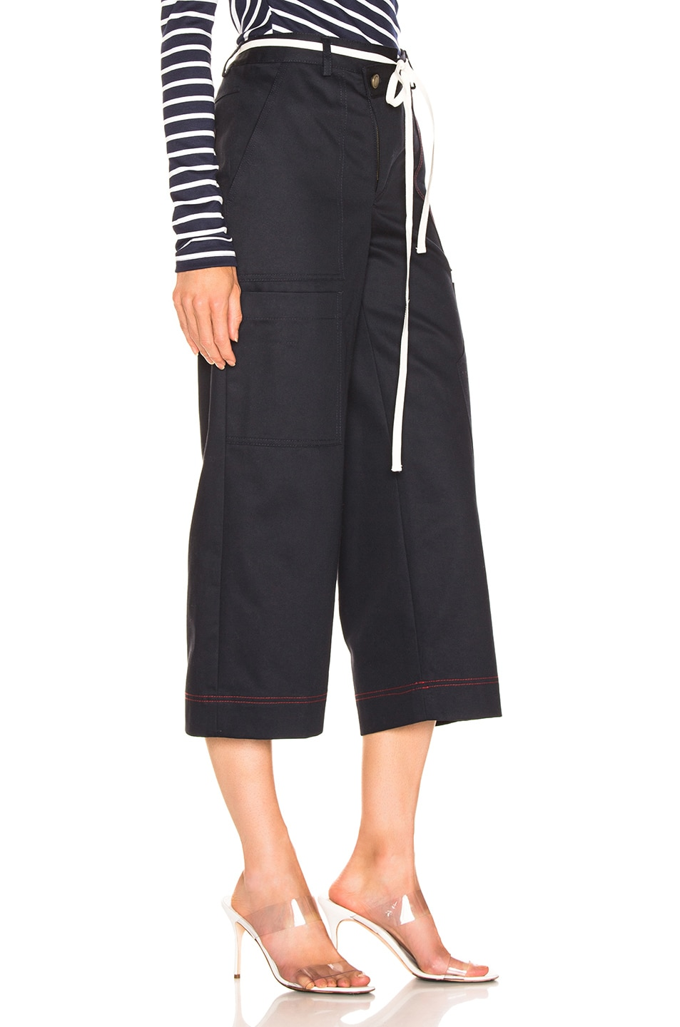 Image 2 of Monse Wide Leg Cargo Pant in Navy