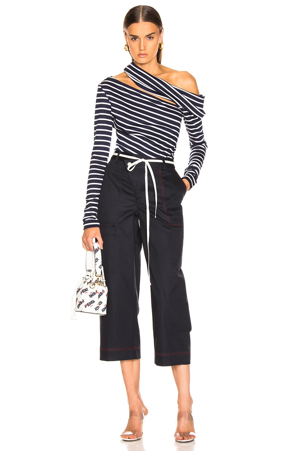 Image 5 of Monse Wide Leg Cargo Pant in Navy