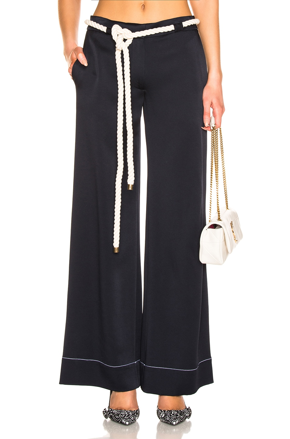 Image 1 of Monse Wide Leg Trouser in Navy