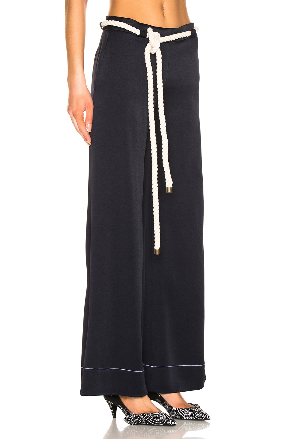 Image 2 of Monse Wide Leg Trouser in Navy